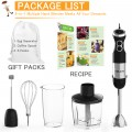 【5-in-1】800W Immersion Hand Blender for Sauces, Smoothies, Soups